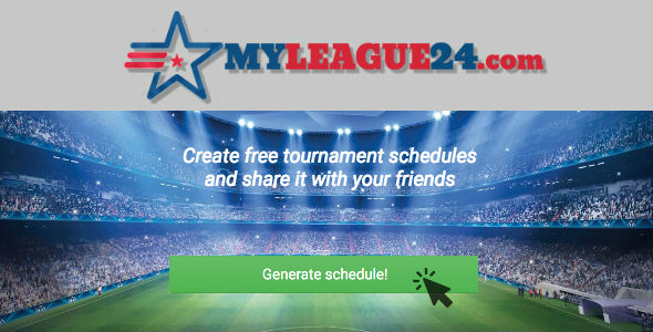 myleague24 com create free tournament schedules and share it with
